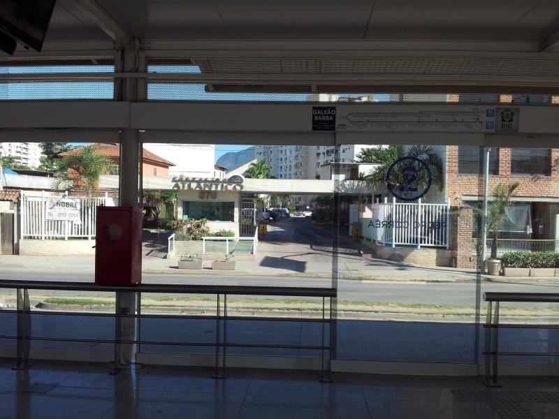 BRT station in front of the condominium