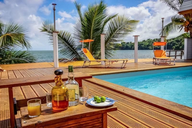 Villa Beau Rivage , face à la mer, les pieds dans l'eau - Piscine et accès mer, vacation rental in La Trinite