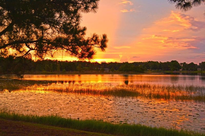 The perfect spot for taking in the spectacular sunsets over the lake