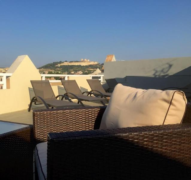 your roof sharing terrace: view on Castello San Michele