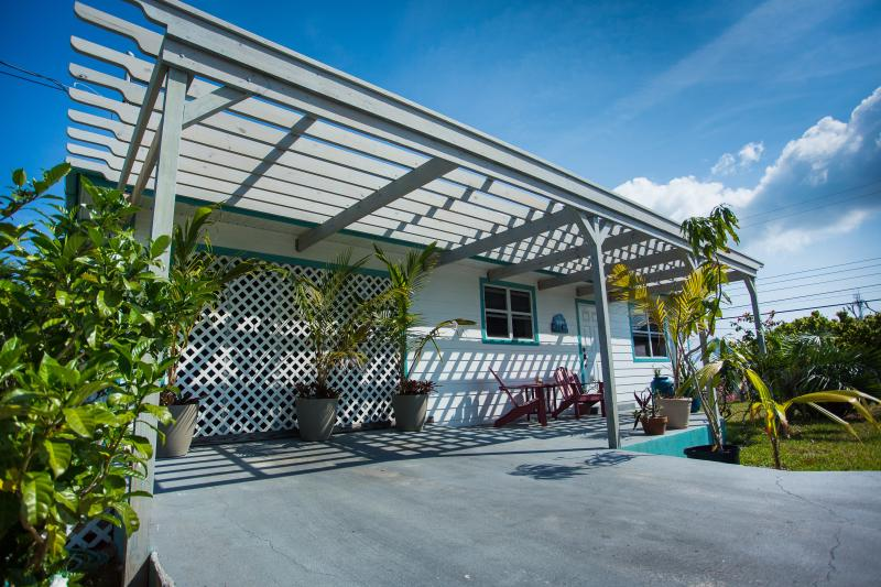Located on quiet side street two minutes from the beach