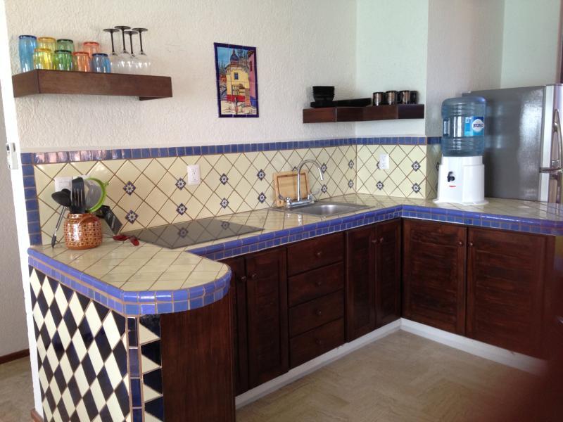 Kitchen with Ceramic Stovetop