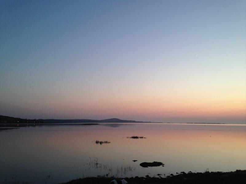 Evening view when the tide is in