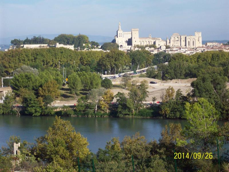 the Palace of the Popes from the Department of the gard at 400 m from the House.