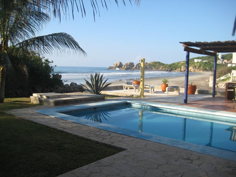 Beach view from pool