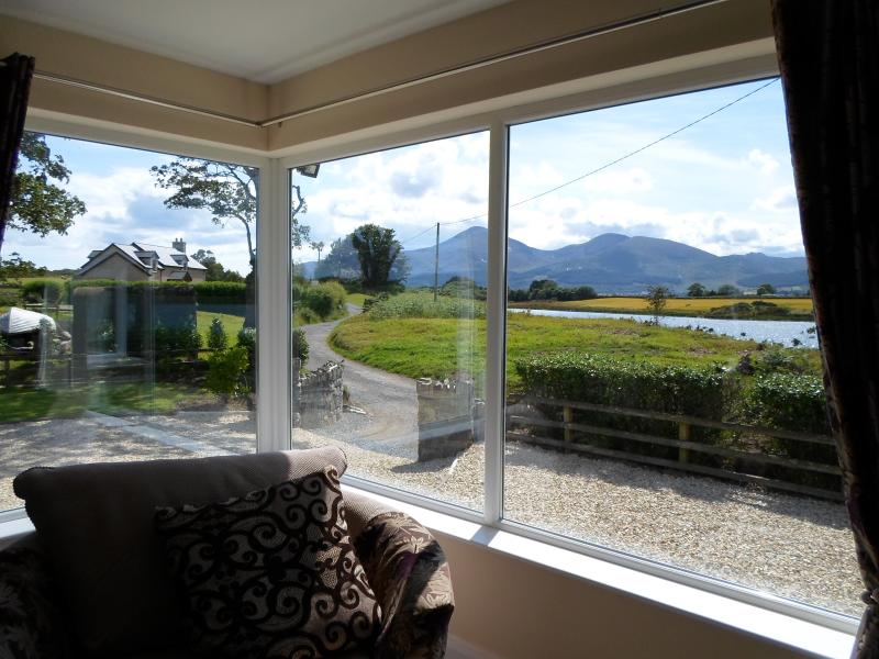 Direct views of the Mourne Mountains from Living room