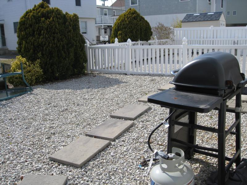 Back Yard with Hot / Cold Private Shower and Gas Grill