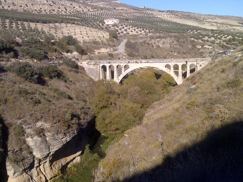 The bridge voer the Cacin river.  A wlak you cant miss