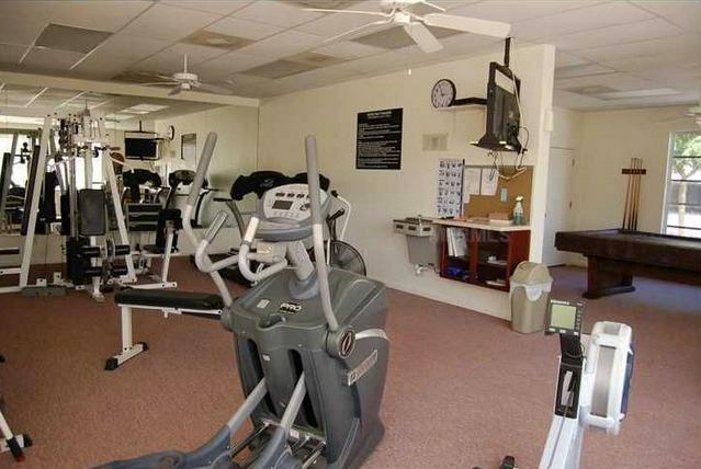 workout room in clubhouse