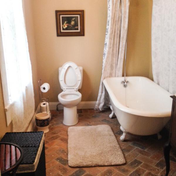 Master bathroom with claw foot tub