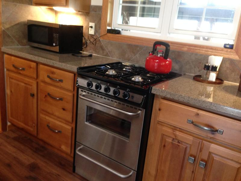 Microwave and toaster oven available