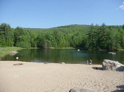 Waterville Estates Beach and Swimming/Boat Pond.