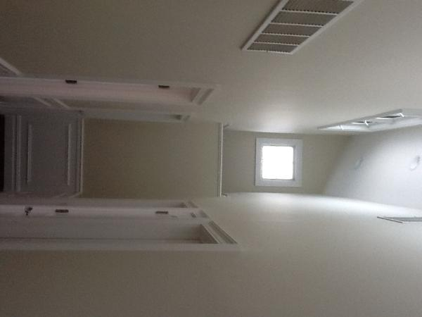 Cool hallway with skylights above