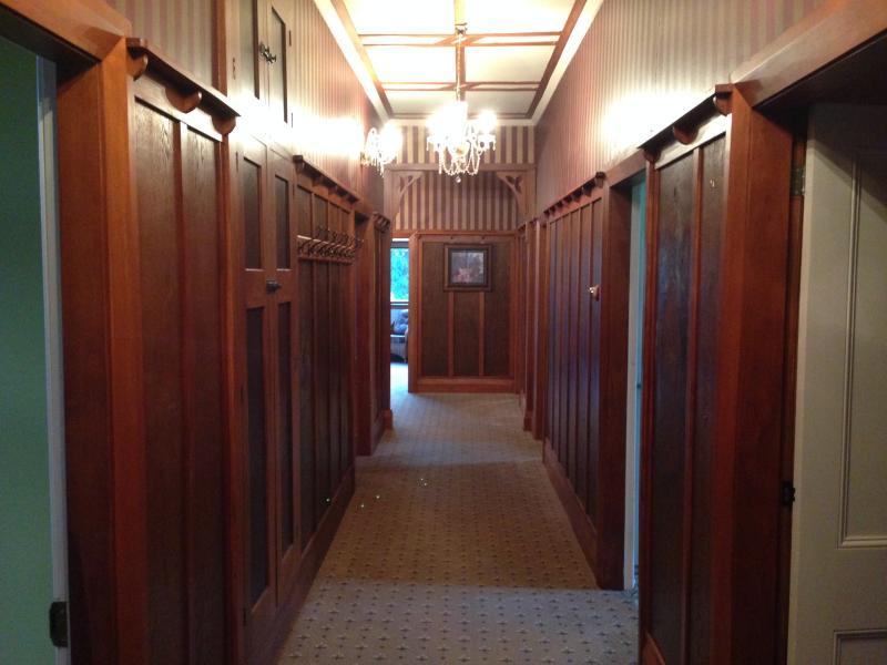 Character wooden hallway