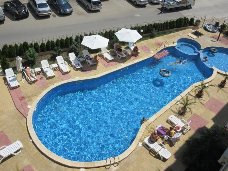 Large pool, childrens pool and jacuzzi.