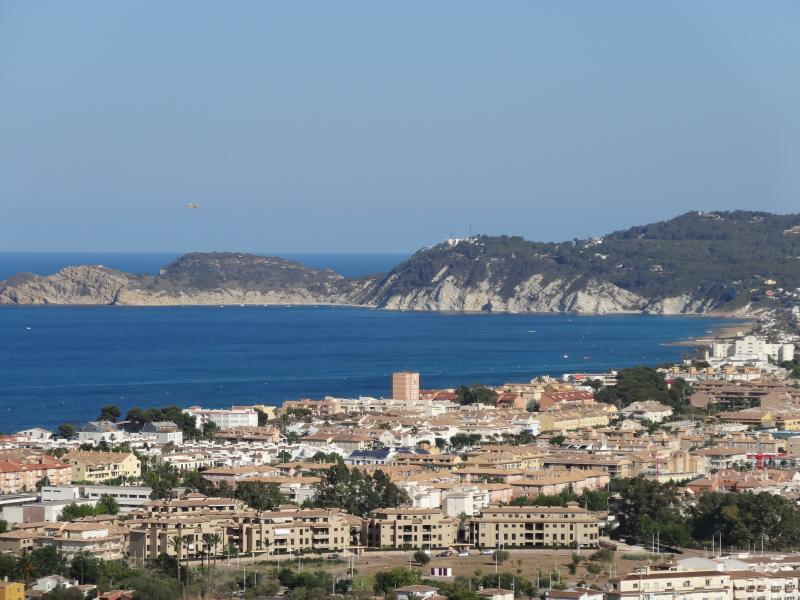Stunning view from the villa of Javea bay.