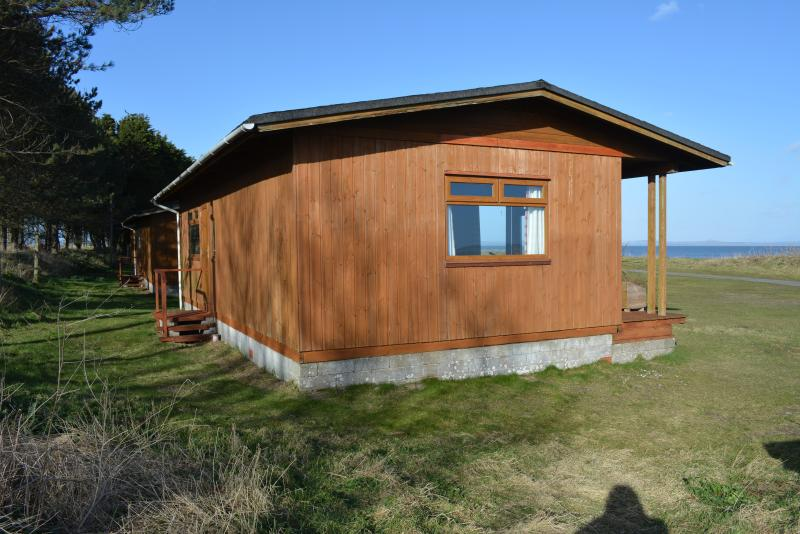 The Chalets are 20 yards from the shore of Luce Bay.