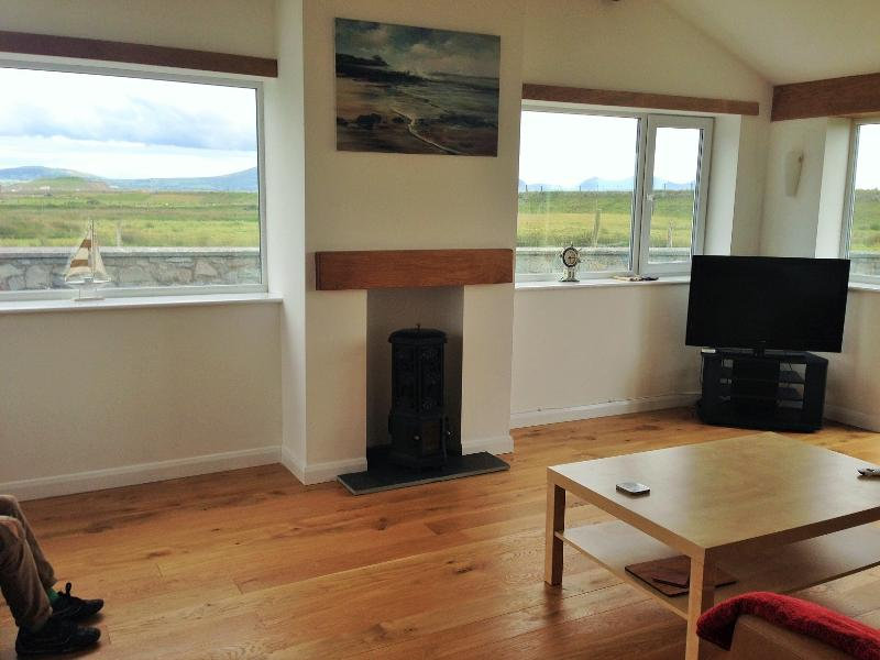 Large sun room with lovely views of the Snowdonia mountain range.