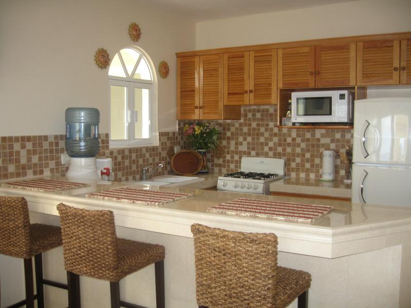Fully equipped kitchen with everything you'll need.