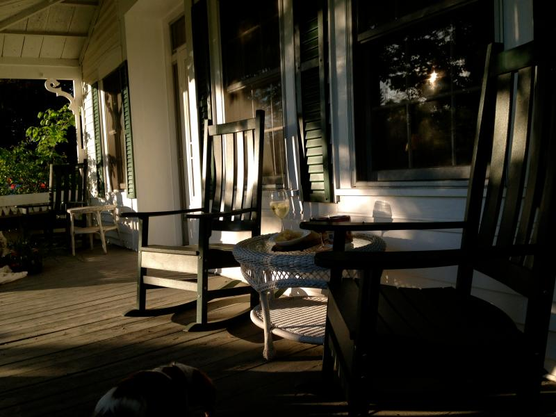 relax on the front porch listen to roaring Gale River