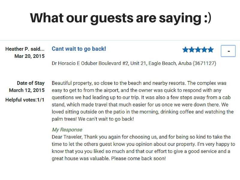 As a result, happy guests always coming back :)