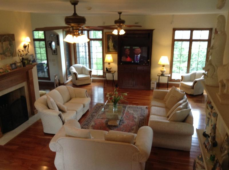 One of the lounge rooms