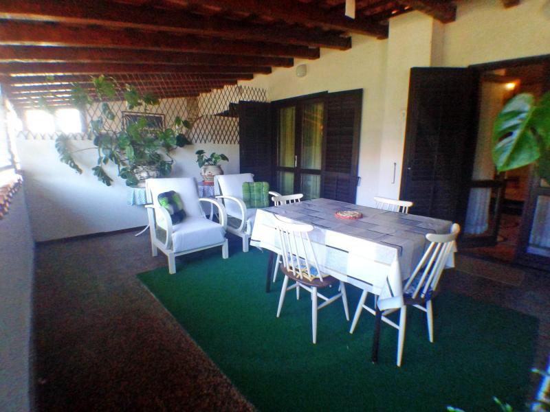 Your large private terrace overlooking the garden.