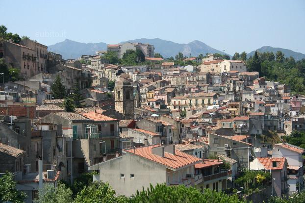 Panoramic view of the town of Monforte San Giorgio