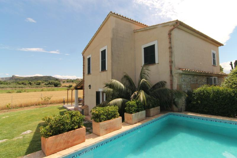 swimming pool view and villa