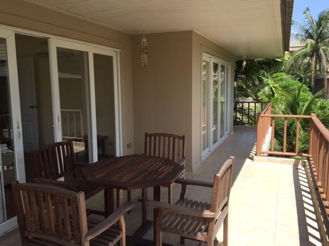 Balcony off bedroom 2 and 3 (2nd floor)