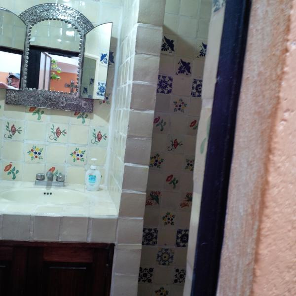 a little peek at the second bathroom, shower ,no tub