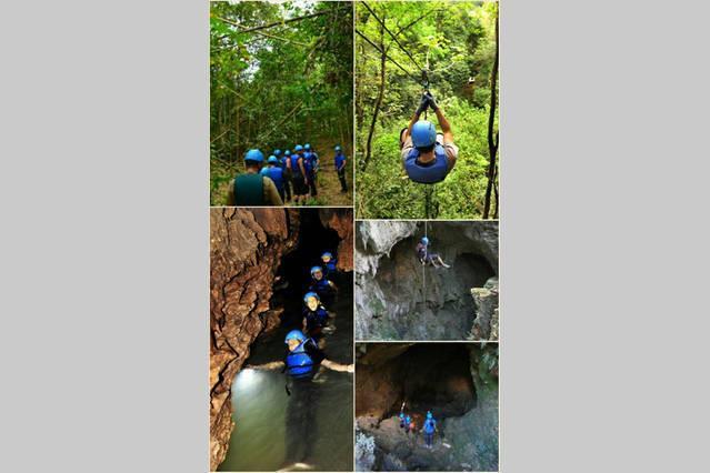 Turísticos locales: el parque de las cavernas selva incluye caminatas de exuberante selva, varias cuevas y sitios espectaculares.