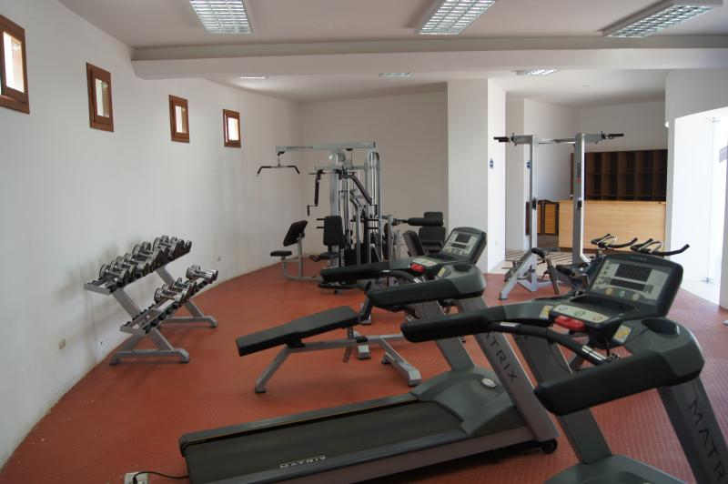 Gym with sauna and steam room