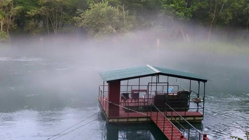 Fog on the river. Posted by a guest on our FB page - Layze River House