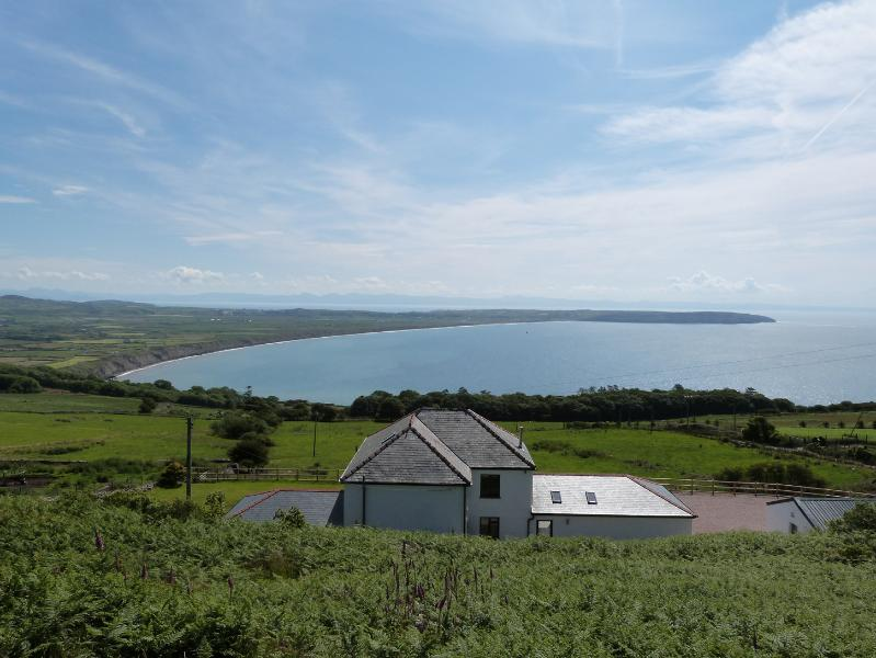 Amazing sea views from this 5 star accommodation in Rhiw on the Llyn Peninsula