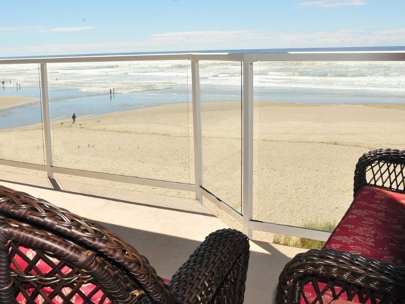 Uitzicht op de directe Oceaan uit een van de vijf dekken.