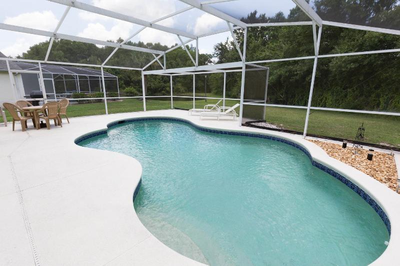 South facing , lake view pool
