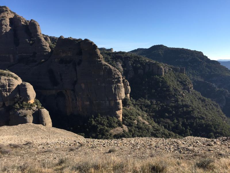 Trail around 'mushroom mountain' near Peramola - 25 mins from the apartment