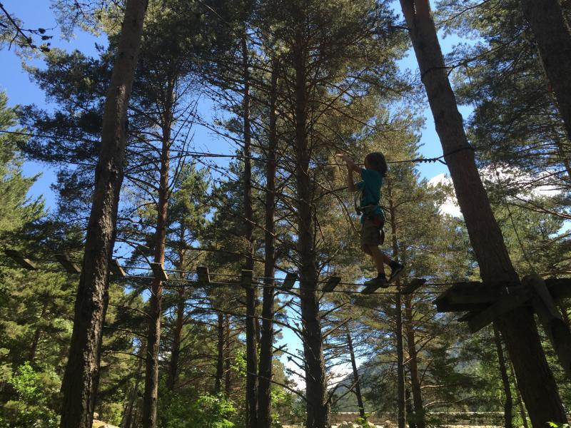 Tree top trail in Andorra