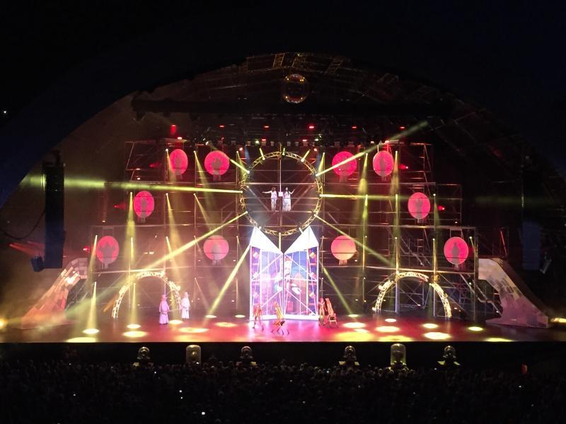 Cirque de soliel free show in Andorra July/August every year