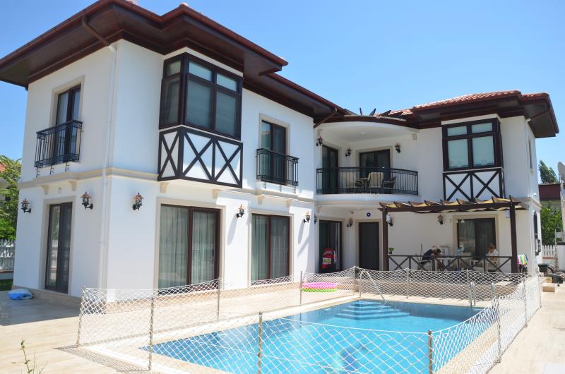 Villa and Swimming Pool Front View