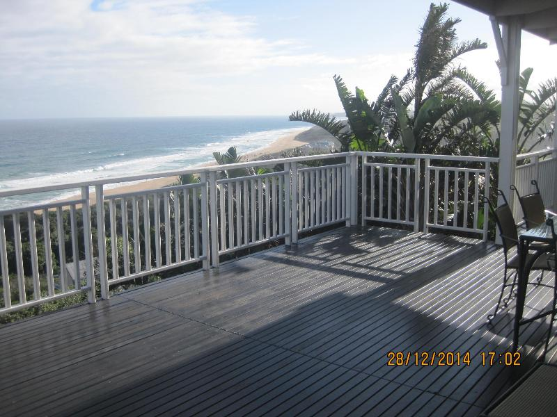 Looking south from the main house deck towards Ballito