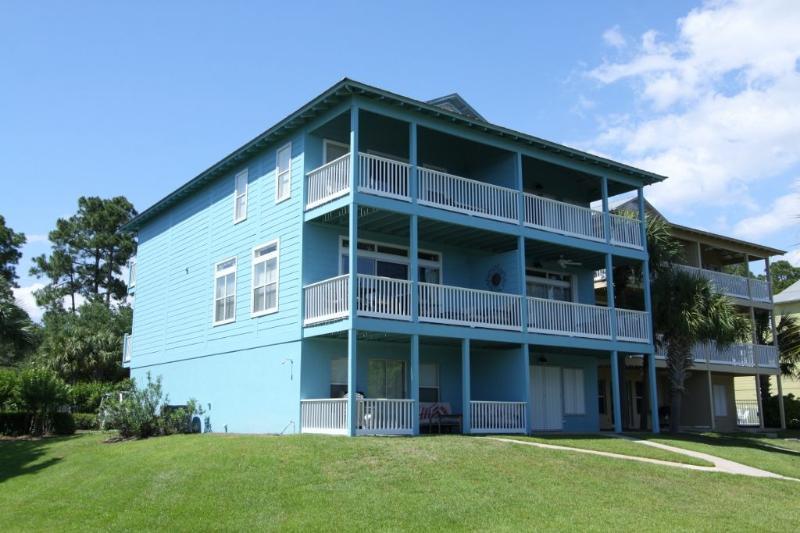 Blue Heaven - On Left Side of Duplex Building