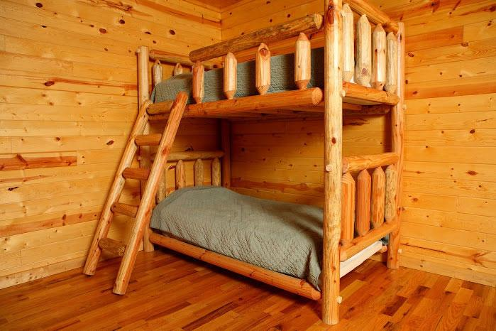 Bunk Beds Downstairs in Entertainment room.