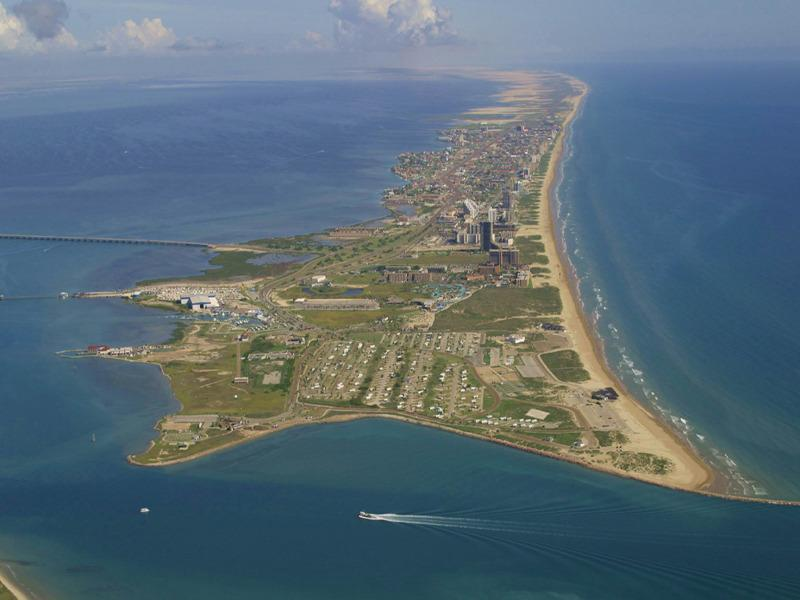 Aerial view of the Island from the South!