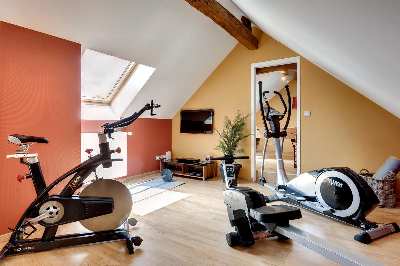 fitness and body building room