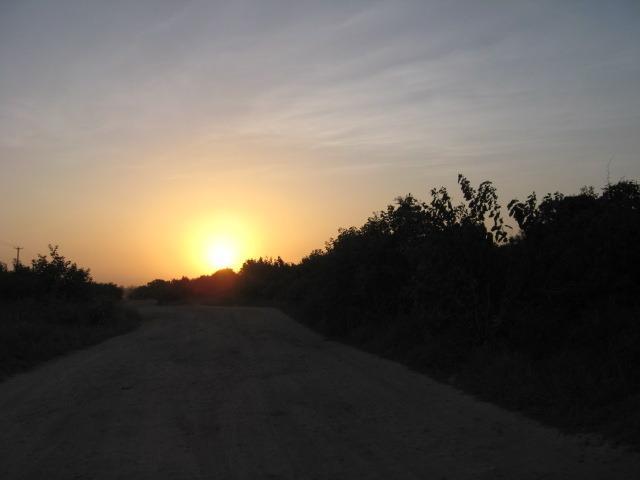 tramonto africano visto dalla villa.