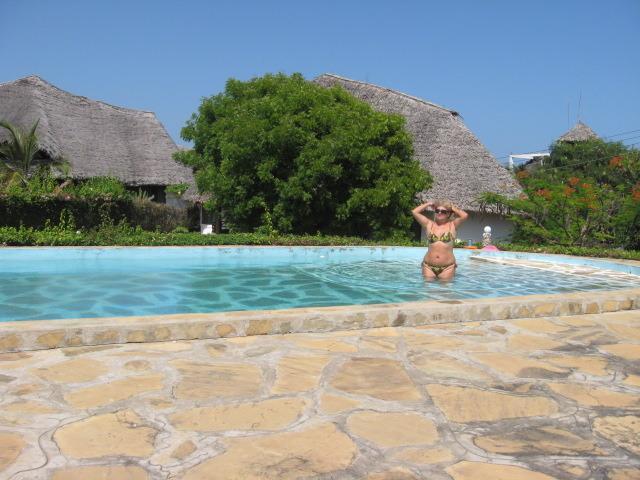 pool of sea water front villa