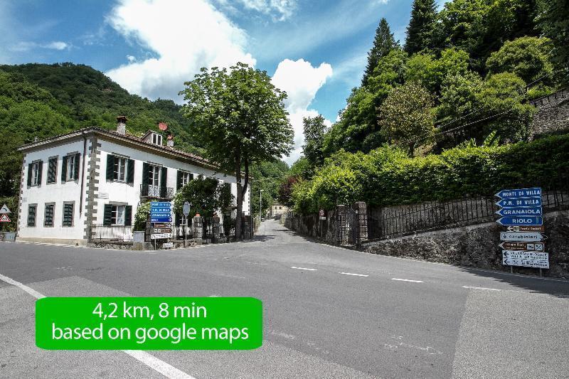 Bagni di Lucca la strada che porta a Tosca House