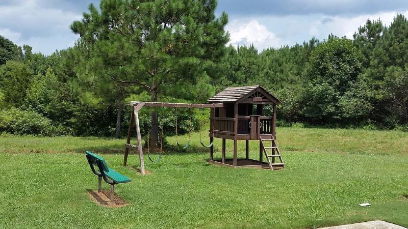 Community Playgound located near pool.